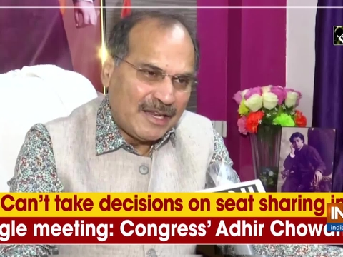 Can't take decisions on seat sharing in single meeting: Congress' Adhir Chowdhury