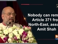 Nobody can remove Article 371 from North-East, assures Amit Shah