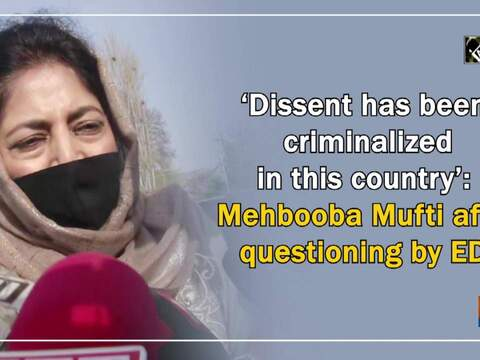 'Dissent has been criminalized in this country': Mehbooba Mufti after questioning by ED