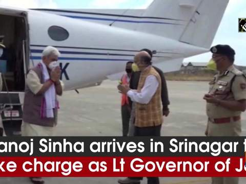 Manoj Sinha arrives in Srinagar to take charge as Lt Governor of J&K