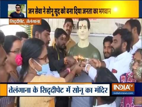 Telangana: Dubba Tanda village locals construct temple to recognize Sonu Sood's philanthropic work