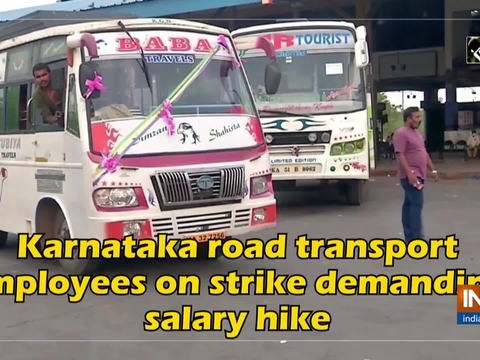 Karnataka road transport employees on strike demanding salary hike