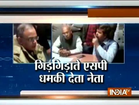 BJP leader threatens Meerut SP, video goes viral on social media
