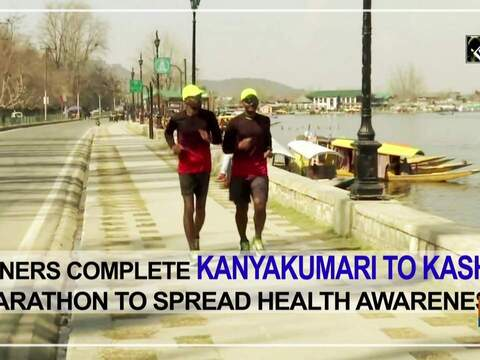 Runners complete Kanyakumari to Kashmir marathon to spread health awareness