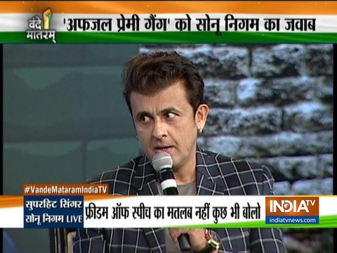 Sonu Nigam on Vande Mataram: We should vote on grounds of performance instead of caste or religion.