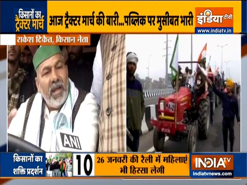 Protesting farmers to hold tractor rally today at four borders of Delhi