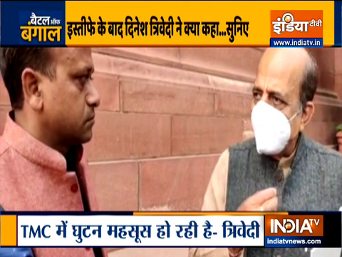 Watch Dinesh Trivedi's Exclusive Interaction with India TV after his resignation