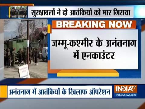 अनंतनाग में सुरक्षा बलों के साथ मुठभेड़ में दो आतंकवादी मारे गए