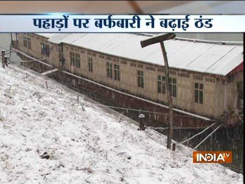 Heavy snowfall disrupts normal life in Kashmir, Himachal Pradesh