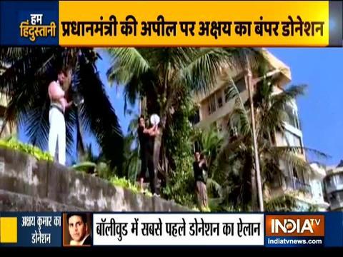 कोरोना वायरस से जंग में अक्षय कुमार ने किया सपोर्ट