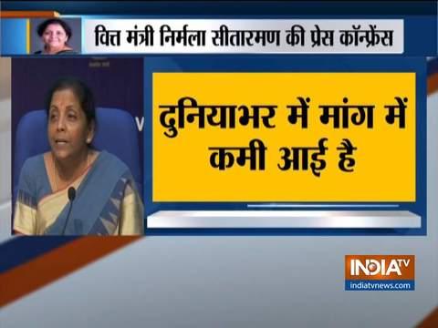 भारत में नहीं है आर्थिक मंदी का असर: वित्त मंत्री निर्मला सीतारमण