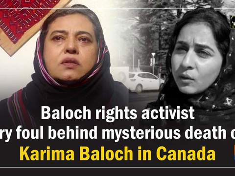 Baloch rights activist cry foul behind mysterious death of Karima Baloch in Canada
