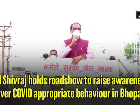 CM Shivraj holds roadshow to raise awareness over COVID appropriate behaviour in Bhopal