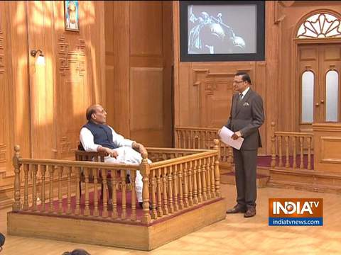 Defence Minister Rajnath Singh in Aap Ki Adalat (Full Episode)