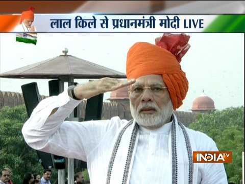 From PM Modi's arrival to departure, watch full video of 72nd I-Day celebrations ( Part 1 )