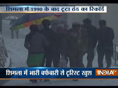 Chill returns after fresh snowfall in Shimla and Dharamshala
