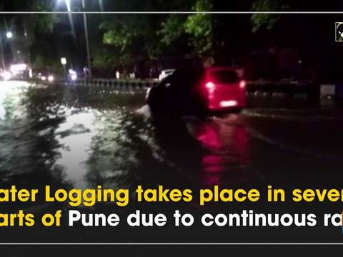 Water Logging takes place in several parts of Pune due to continuous rain