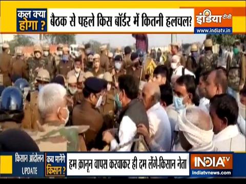 किसान आंदोलन 9वें दिन भी जारी, कड़ा रुख अपनाए प्रदर्शनकारी दिल्ली सीमा पर जमे