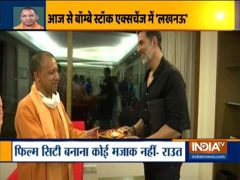 Yogi Adityanath in Mumbai on 'Mission Bollywood', Opposition leaders take a dig