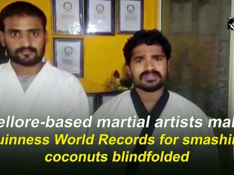 Nellore-based martial artists make Guinness World Records for smashing coconuts blindfolded