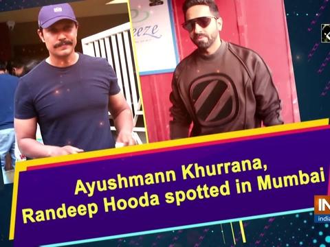 Ayushmann Khurrana, Randeep Hooda spotted in Mumbai