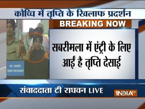 Sabarimala row: Activist Trupti Desai stopped at Kochi airport