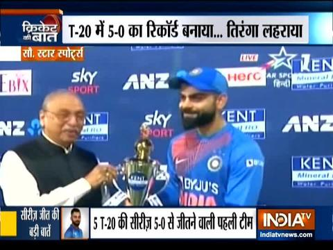 India beat New Zealand by 7 runs in 5th T20I to sweep series 5-0