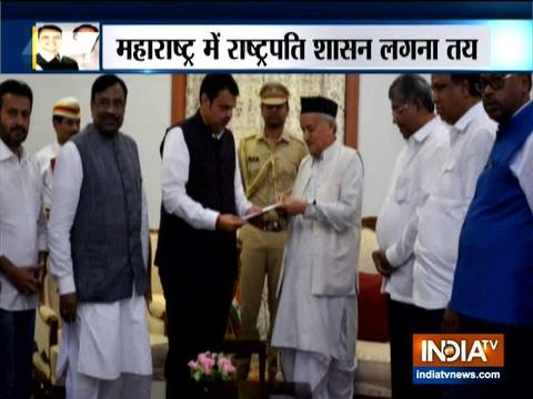 Devendra Fadnavis resigns as Maharashtra CM