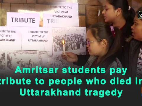 Amritsar students pay tribute to people who died in Uttarakhand tragedy