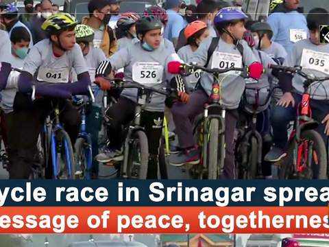 Cycle race in Srinagar spread message of peace, togetherness