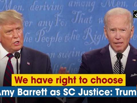 We have right to choose Amy Barrett as SC Justice: Donald Trump