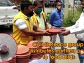 Civil Defence group distributes earthen pots to feed birds