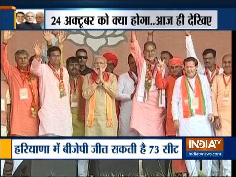 Exit polls predict huge win for in Maharashtra, Haryana