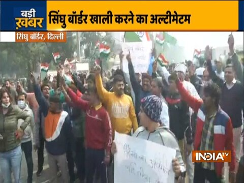 'Protest Vs Protest': Villagers near Singhu border demand removal of protesters