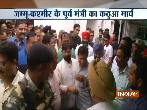 Kathua rape case: Former Minister Lal Singh leads march from Jammu to Kathua