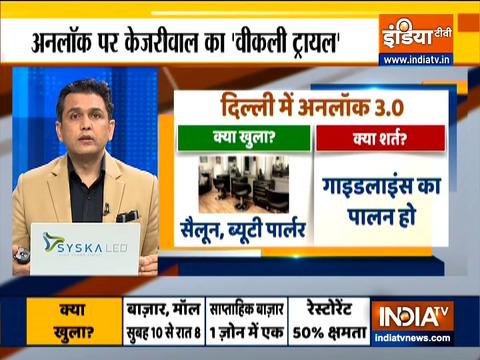 दिल्ली में अनलॉक 3.0, क्या खुला-क्या बंद.. देखिए रिपोर्ट