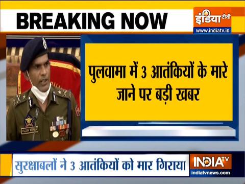 IGP Kashmir, Vijay Kumar briefs media on Pulwama encounter