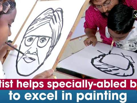 Artist helps specially-abled boy to excel in painting