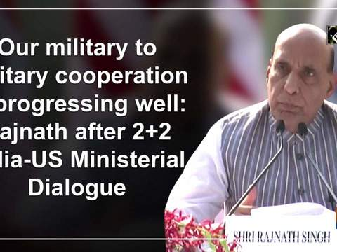 Our military to military cooperation is progressing well: Rajnath after 2+2 India-US Ministerial Dialogue