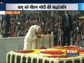 PM Modi and other top leaders pay tribute to Mahatma Gandhi at Rajghat