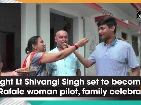 Flight Lt Shivangi Singh set to become 1st Rafale woman pilot, family celebrates