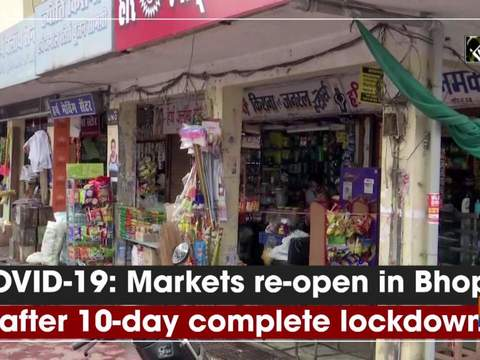 COVID-19: Markets re-open in Bhopal after 10-day complete lockdown