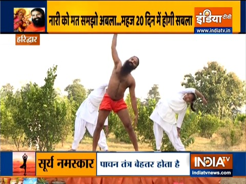 Yogasanas to build strong muscles from Swami Ramdev