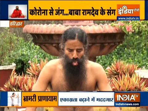 Swami Ramdev shares acupressure points for migraine