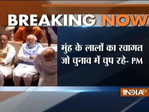 I am thankful to party leaders for refraining from making controversial remarks, says PM Modi