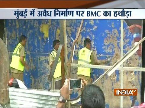 BMC demolition drive continues after fire accident in Kamala Mills Compound, Mumbai