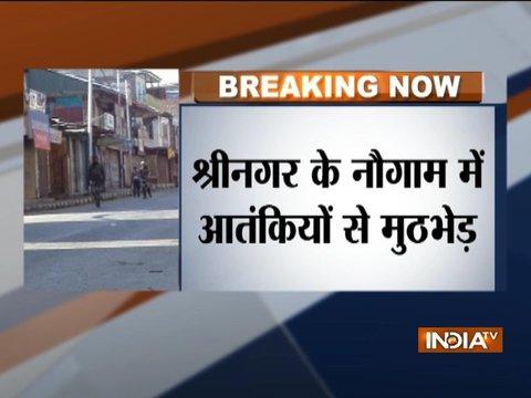जम्मू-कश्मीर: श्रीनगर के नौगाम में आतंकियों से मुठभेड़