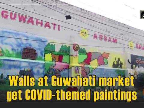 Walls at Guwahati market get COVID-themed paintings