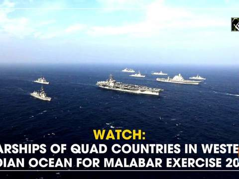 Watch: Warships of QUAD countries in Western Indian Ocean for Malabar Exercise 2020