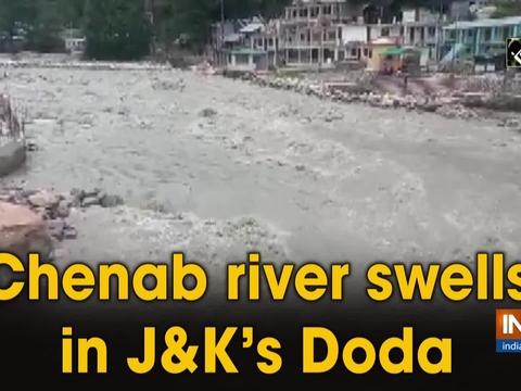 Chenab river swells in JK's Doda